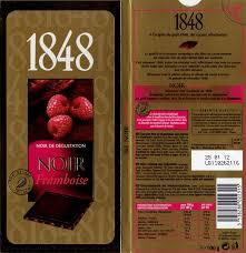 tablette de chocolat noir gourmand poulain 1848 noir framboise
