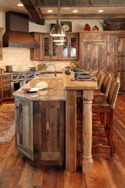 Rustic Bar Cabinet Appliances Granite Countertops With Wooden Kitchen Bar Also