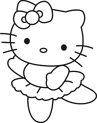 hello kitty doing ballet coloring page cute pages of