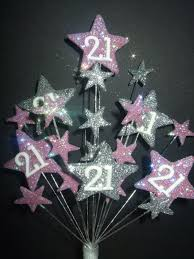 star age 21st birthday cake topper in lilac u0026 silver postage 3 25