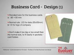 Size For Business Cards The Business Card Principles Part 1 Design Dos U0026don U0027ts