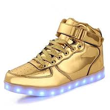 gold light up sneakers gold light up shoes amazon com