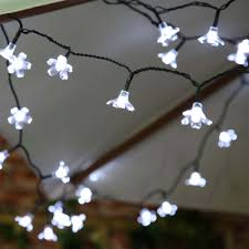 Fairy Lights Indoor by 50 White Led Blossom Outdoor Waterproof Battery Fairy Lights With