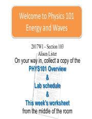 physics 101 physics 101 waves ubc page 1 course hero