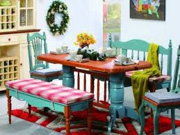 Balinese Dining Table Colorful Dining Room Tables Cool Decor Inspiration Colorful Dining