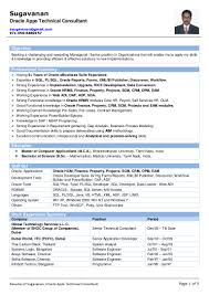 P L Responsibility Resume Resume Of Sugavanan Oracle Apps Technical Consultant
