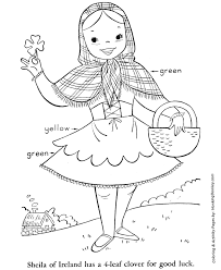st patrick u0027s day coloring pages irish with shamrock