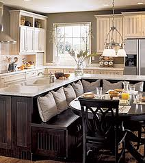 Open Kitchen Dining Room Designs by Kitchen With Built In Seating Area L Shaped Island Love Love