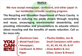 pasco county fl official website recycling