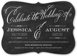 wedding invitations shutterfly chalked union 5x7 customized wedding invitations shutterfly