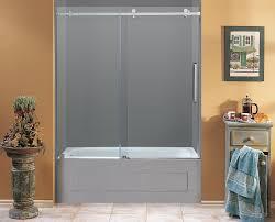 moselle completely frameless sliding tub height shower door share