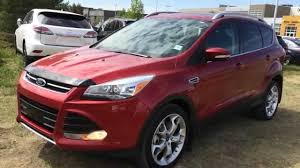 Ford Escape 2013 - pre owned ruby red 2013 ford escape 4wd titanium in depth reivew