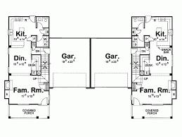 narrow lot duplex plans best 14 craftsman house plans braydon 60