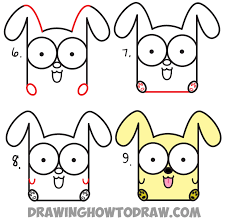 draw cartoon baby dog puppy letters easy step