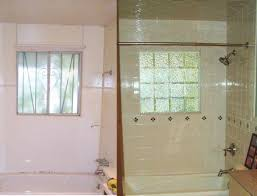 Bathroom Shower Window Seattle Glass Block Showers Windows Installation Glass Block