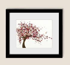 Branch Decorations For Home by 11 X 14 Art Red Burgundy Wall Decor For Home Tan And Brown