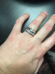 my wedding band is my wedding band big for my engagement ring