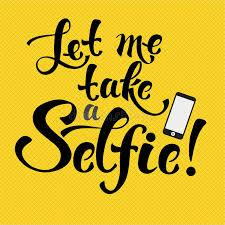 selfie decorative lettering stock vector image 61112709