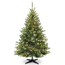 tree company 6 ft clear pre lit spruce artificial