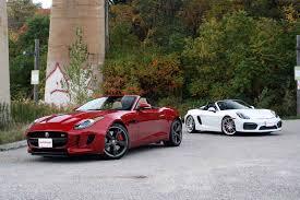 spyder porsche price 2016 jaguar f type vs 2016 porsche boxster spyder autoguide com news