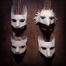 crow mask halloween woodland animal set by wintercroft on etsy art pinterest