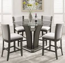Dining Room Table Glass Brayden Studio Kangas 5 Piece Round Glass Top Counter Height