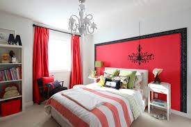 Red Curtains In Bedroom - amazing bedroom ideas for women with red curtains and striped