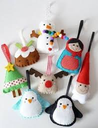stitched felt polar decoration all things