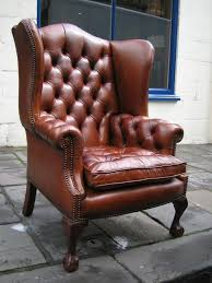 Armchair Leather Design Ideas Furniture Nice Leather Wingback Chair For Modern Family Room