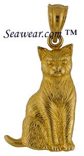 gold cat pendant necklace images Cat jewelry jpg