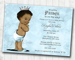 boy baby shower invitation african american baby shower
