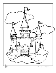 coloring page of castle kids coloring