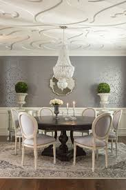 432 best luxe dining images on pinterest dining room dining ceiling and walls grey ivory dining room dark pedestal table white louis chairs with nailhead trim oriental rug