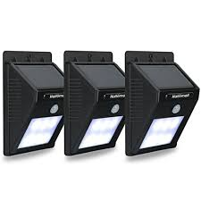 hallomall outdoor solar wall lights motion sensor detector no