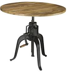 adjustable height round table galway gunmetal adjustable height dining table from coaster