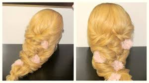 hairstyle for prom cute braids curly hairstyle youtube