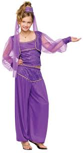 genie costume girls kids child dreamy princess jasmine s 4 6 m 8