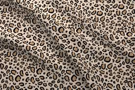 leopard print tan natural animal cheetah safari print fabric