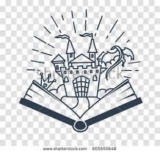 concept reading form open book dragon stock vector 605555648