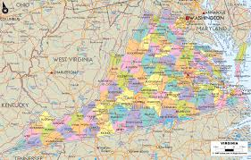 virginia map detailed political map of virginia ezilon maps