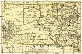 map south dakota stunning antique map of south dakota artwork for sale on