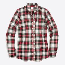 ruffle front plaid shirt factorywomen blouses u0026 tops factory