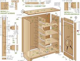 kitchen furniture plans construction plans and parts list to build cabinets run of the