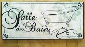 French Bathroom Decor Salle De Bain Sign French Bathroom Decor Victorian French