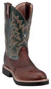 twisted x s boots twisted x s w green top steel toe work boot