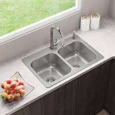 kitchen sink with cabinet elkay dual mount 33 in x 22 in stainless steel equal bowl 2 kitchen sink