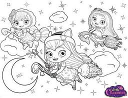 little charmers coloring pages coloring pages