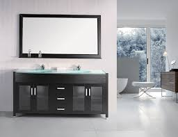 adorna 55 inch double sink vanity set composite stone top intended