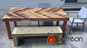 Modern Outdoor Wood Bench by How To Build A Modern Outdoor Bench Crafted Workshop Youtube