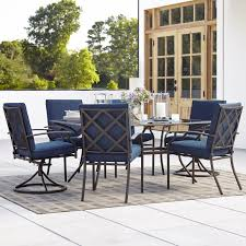 sears patio sets grand resort fairfax pc dining set blue furniture